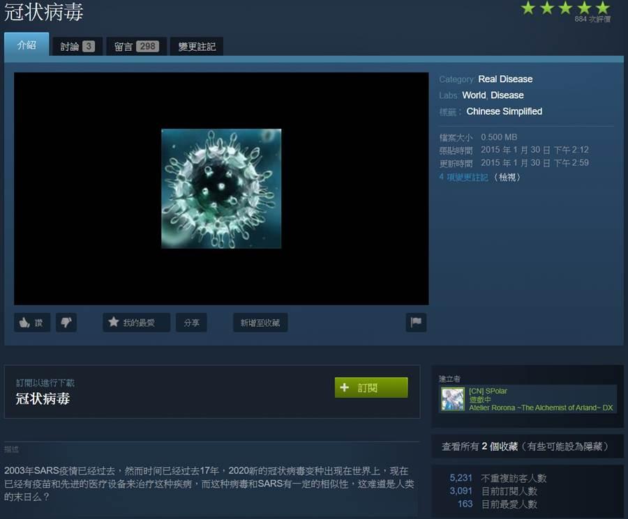 一名大陸玩家[CN] SPolar為遊戲《瘟疫公司:進化》開發了新的MOD,精準命中今年武漢肺炎情形,讓不少網友驚呼大嘆「先知」、「神預言」 (圖/翻攝自PTT)