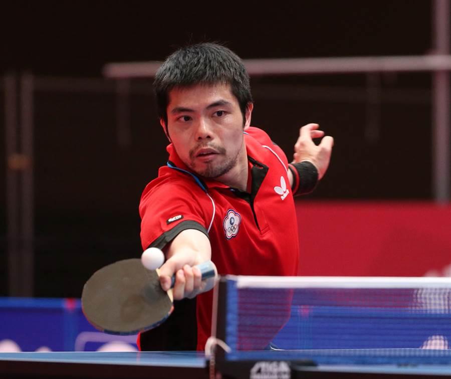 莊智淵去年底同意繼續為國效力,今天他單雙打都獲勝,助中華隊拿下3張奧運門票,個人將可五度進軍奧運締造台灣紀錄。(資料照/陳怡誠攝)