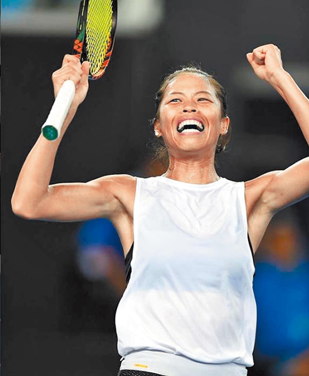 澳洲網球公開賽女雙項目昨進行第2輪賽事,大會第1種子「台捷組合」謝淑薇與捷克的史崔可娃,以直落二順利挺進第3輪16強。圖為謝淑薇。(翻攝自澳網IG/中央社)