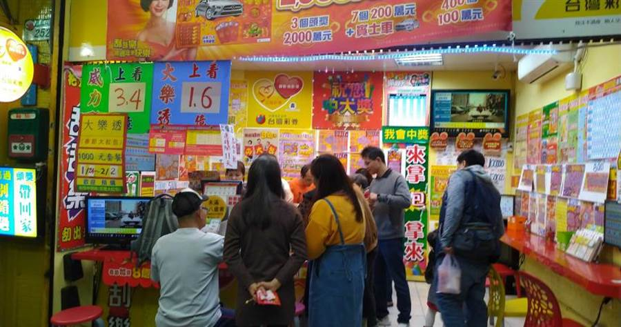 台彩統計出8家彩券行開出「大樂透加碼的春節大紅包」獎項次數或是金額多。(圖/李蕙璇攝)
