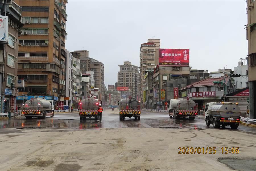 重慶高架橋拆除工程明晚完工 。(新工處提供/吳康瑋台北傳真)