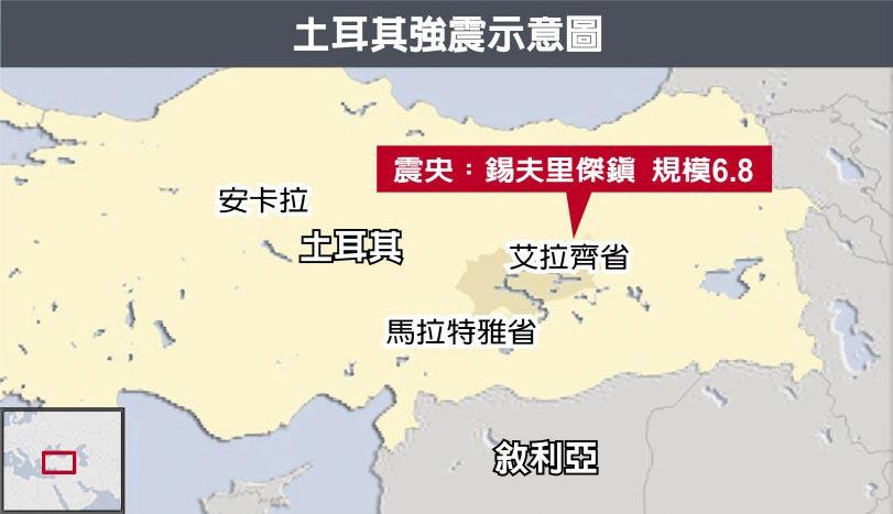 土耳其強震示意圖
