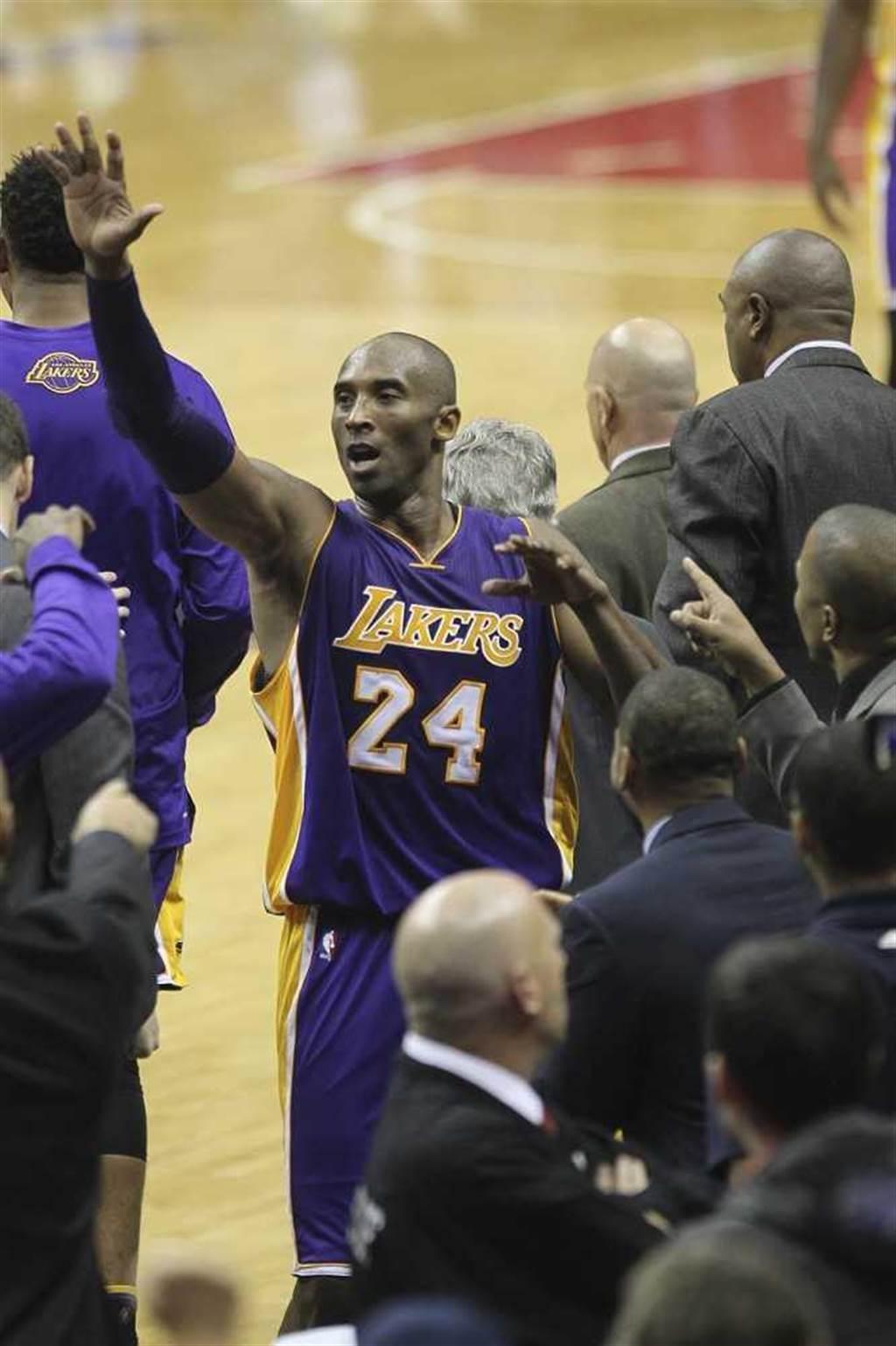 柯比布萊恩(Kobe Bryant),享年41歲。(圖/達志/美聯社)