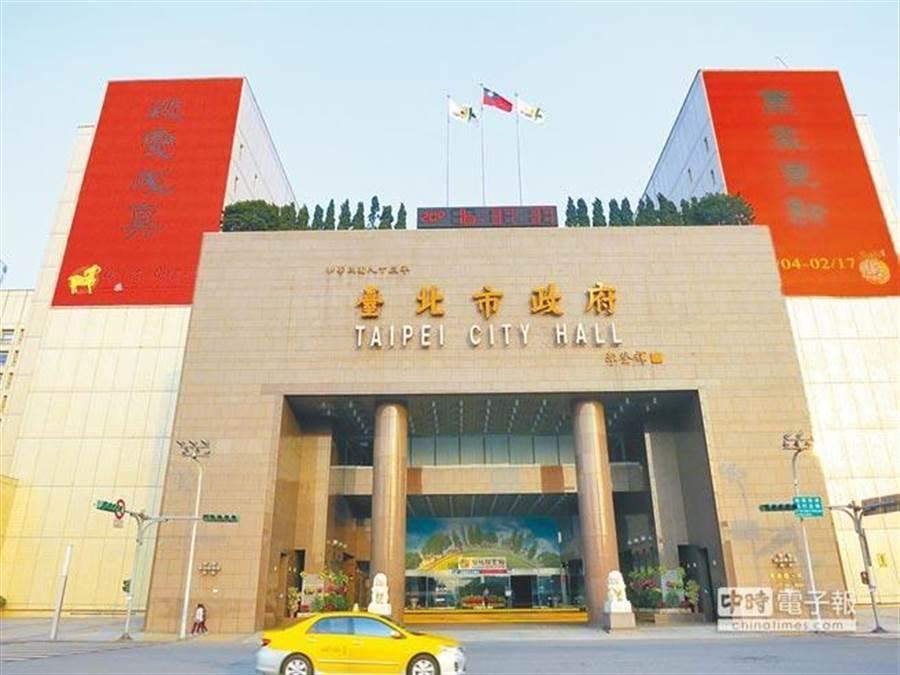 台北市政府。(中時資料照)