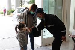 台中慈濟醫院設防疫門禁 出入戴口罩、洗手、量體溫