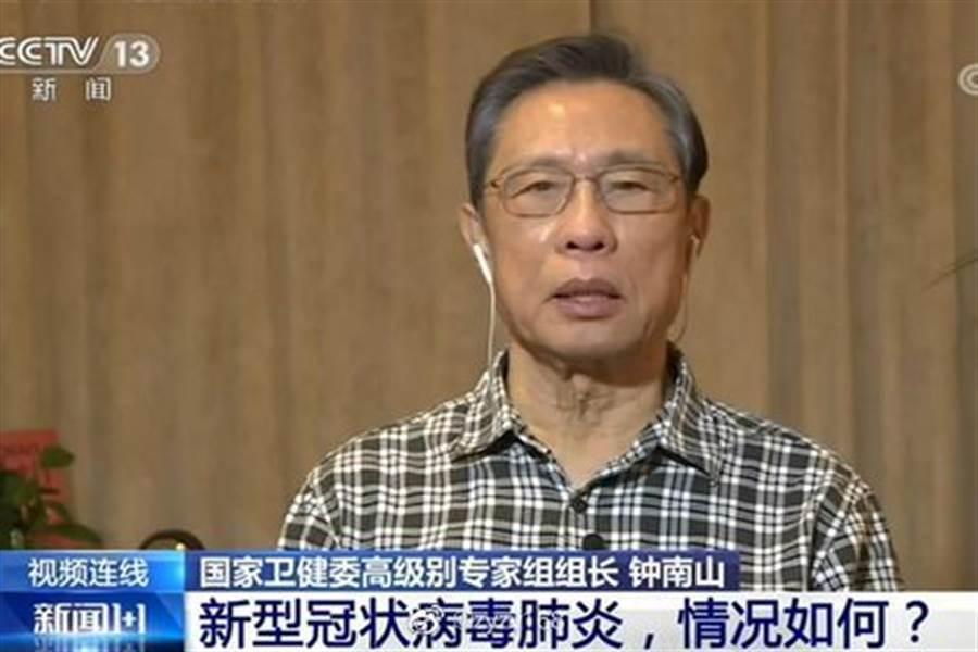 大陸專家鍾南山過去就建議,防堵武漢肺炎,最近最好不要接觸野生動物。(央視截圖)