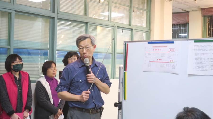 彰化縣衛生局長葉彥伯說明全國第5例與第8例的個案情況。(謝瓊雲攝)