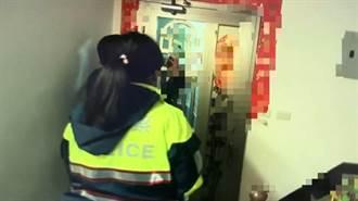 春節門鎖故障受困家中,中市警機警成功救援
