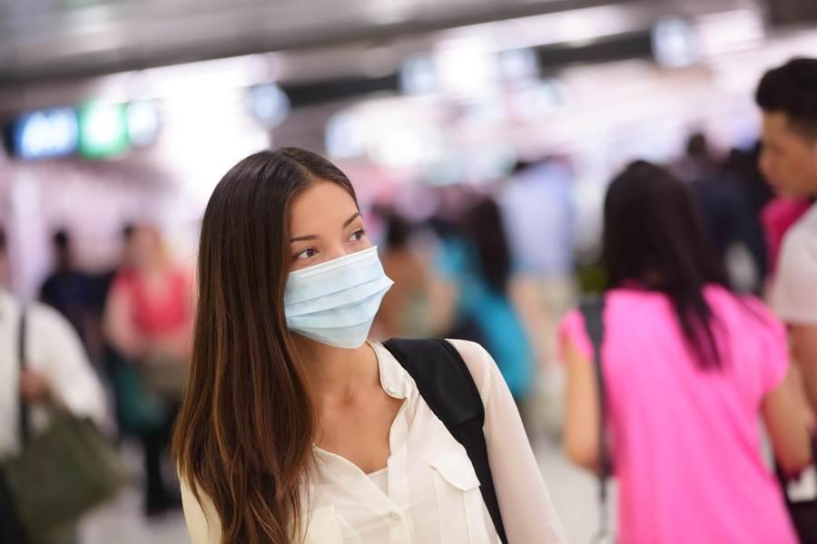 肺炎疫情擴大,若前往人多的地方最好要戴口罩。(示意圖/Shutterstock)