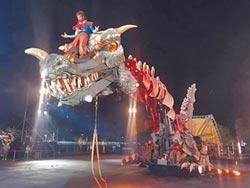 12公尺巨龍秀 桃園燈會抓眼球