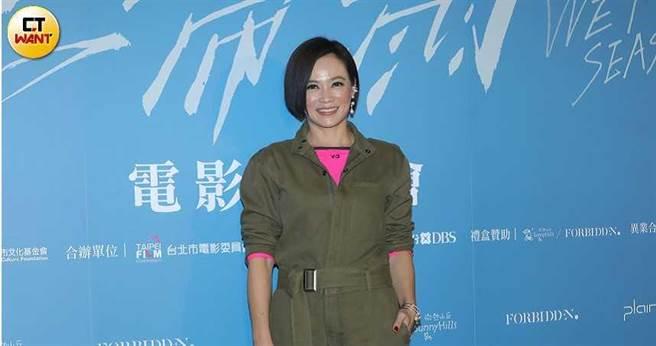 楊雁雁因電影《熱帶雨》精彩的演出,獲得金馬獎最佳女主角的肯定。(圖/施岳呈攝)