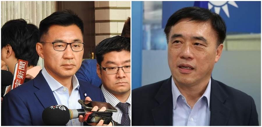 國民黨主席補選,江啟臣(左)、郝龍斌(右)宣布參選。(圖∕本報系資料照)