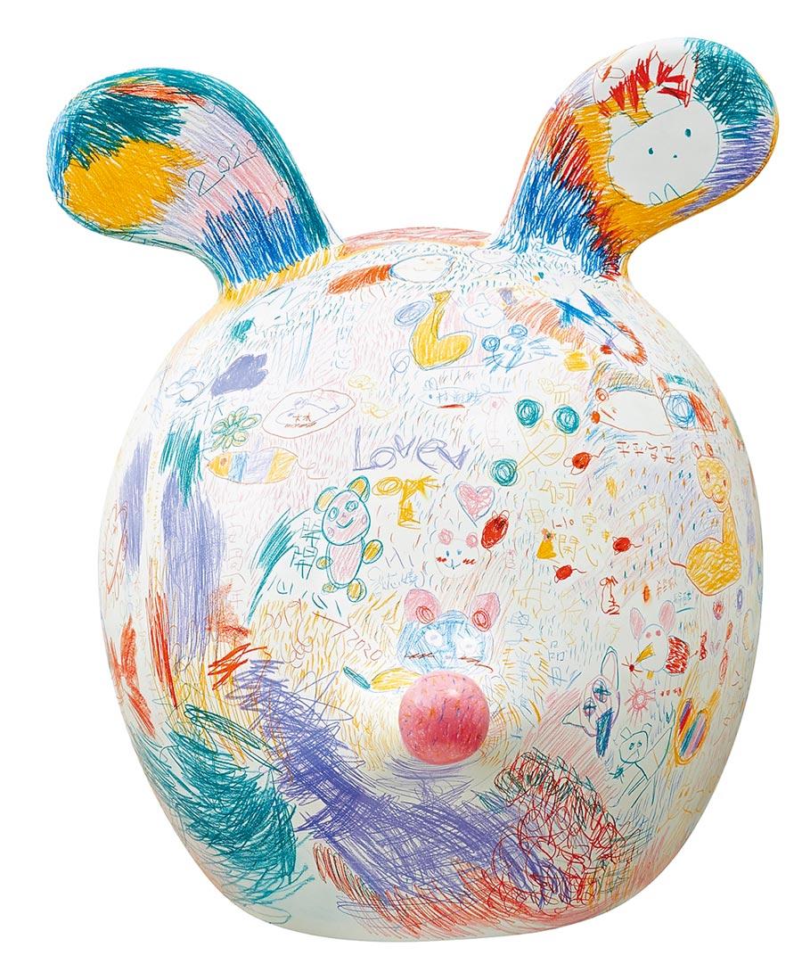 「親愛的非你莫鼠」是由王耀邦(格子)與南投縣親愛國小44名學生一同創作。(新光三越提供)