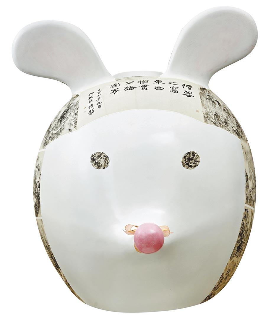 「橫貫公路鼠」是藝術家陸蓉之回憶17歲時徒步橫貫公路寫生的趣味。(新光三越提供)