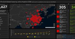美國大學推武漢肺炎擴散地圖 即時更新追蹤案例