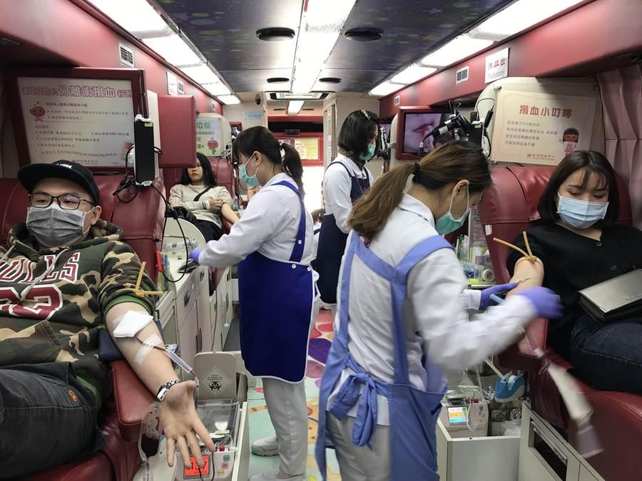 新竹Big City遠東巨城購物中心近日舉辦捐血活動,以超過1050袋的熱血成為桃竹苗區單點單日的最高紀錄。(新竹巨城提供/陳育賢新竹傳真)