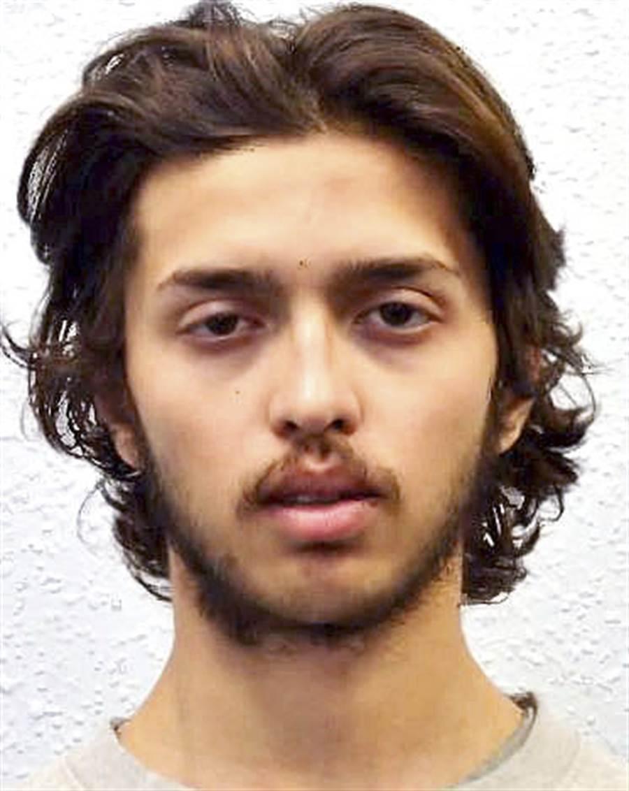 遭擊斃男嫌身分確認,是名叫阿曼的20歲男子,前一周才出獄。(圖/美聯社、倫敦都會區警察局)