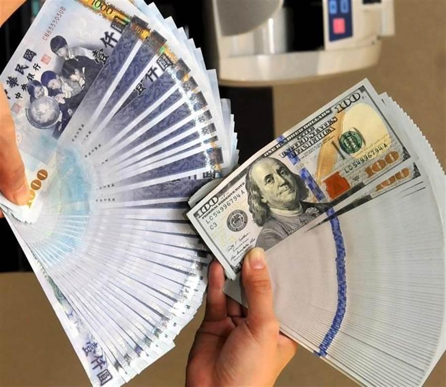 台北外匯市場新台幣兌美元匯率今天以30.350元開盤,貶1角。(圖/中時資料照)