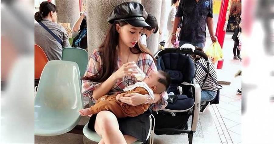 林采緹表示產後身材大走樣。(圖/林采緹 Sunny Lin臉書)
