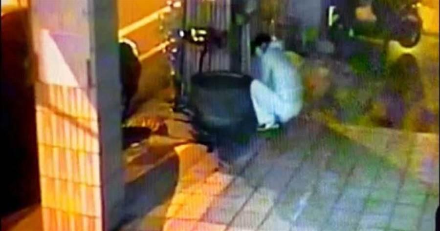 韋姓男子凌晨三點到店家偷招財金魚,只為了把金魚當禮物送朋友。(圖/警方提供)