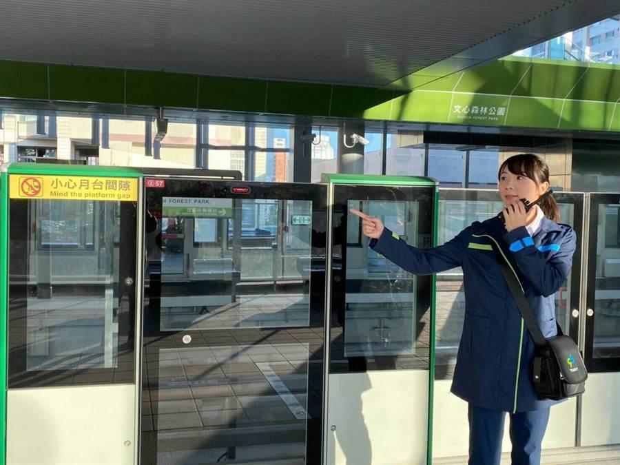 台中捷運綠線將在今年底通車營運,台中捷運公司3日全員動員接管進駐全線18個車站及路軌。(台中市府提供/盧金足台中傳真)