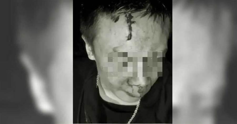 竹聯幫明仁會長「阿豪」遭擄走歐打、軟禁,甚至被強逼拍下道歉影片。(摘自網路)