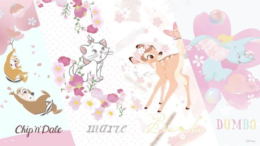 【迪士尼櫻花季】奇奇蒂蒂、瑪麗貓、小鹿斑比、小飛象四大主題。(邁思娛樂 提供)