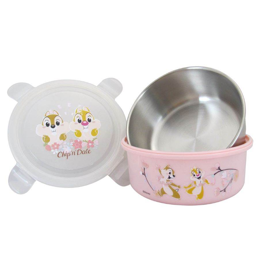 【迪士尼櫻花季】櫻花季不銹鋼環保餐碗(奇奇蒂蒂款)。(邁思娛樂 提供)