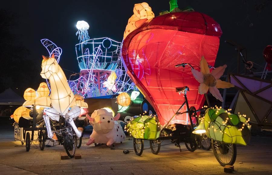 台灣燈會「寶島炫光巡邏隊」將於8日進行踩街遊行。(台中市文化局提供/陳淑娥台中傳真)