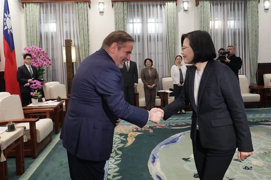 總統蔡英文接見歐洲在台商會理事長尹容,呼籲全球防疫武漢肺炎,不該排除台灣。(圖/總統府提供)