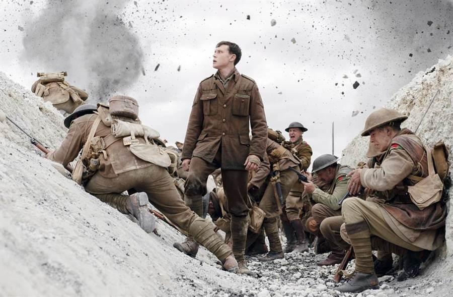《1917》橫掃最佳影片、導演、傑出英國電影等7大獎,成最大贏家。(圖/達志影像)