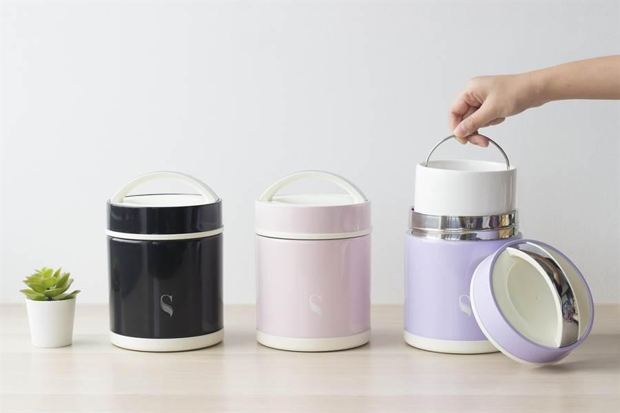 SWANZ陶瓷食物悶燒罐是全台第一個可拆解內膽的食物悶燒罐。(SWANZ提供)