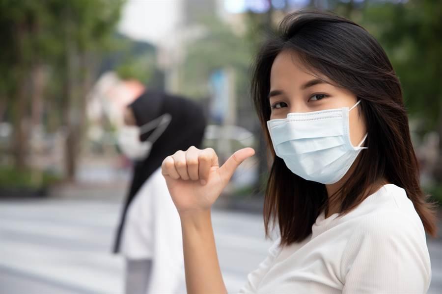 武漢肺炎防疫期間許多人長時間配戴口罩,只要掌握保養重點,就不怕悶出粉刺和痘痘。(示意圖/shutterstock提供)
