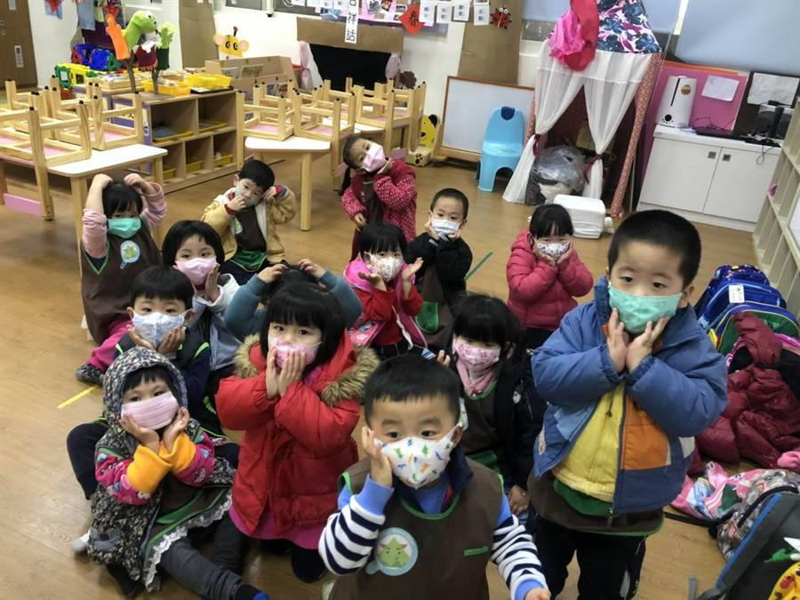 桃園市分配到5萬餘片兒童口罩,今全數分配給全市已開學的374所私幼和22所非營利幼兒園。(蔡依珍攝)