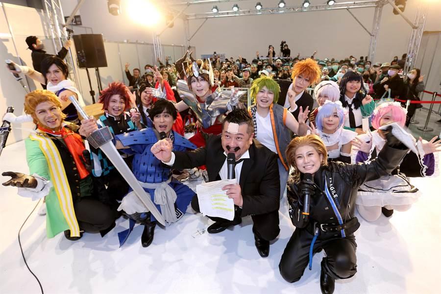 日本最大Cosplay專門節目《coscosplayplay》二度訪台,再度體會到台灣漫迷的熱情。(黃世麒攝)