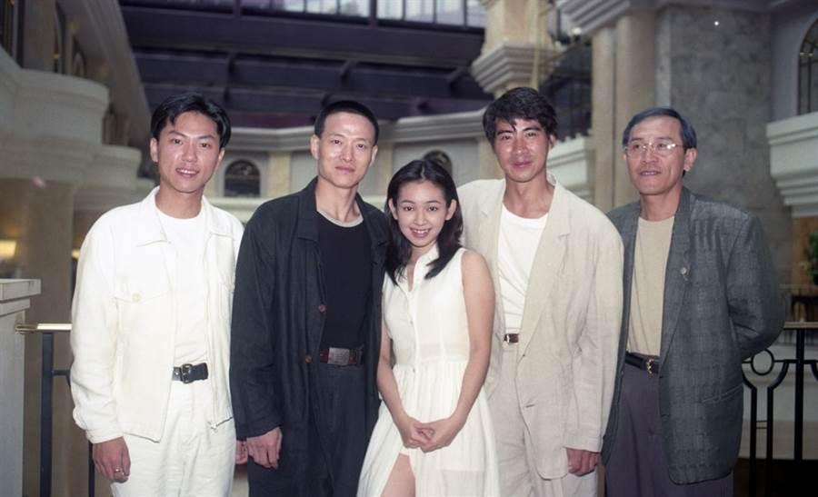 1996年《總統的故事》(右起)小戽斗、翁家明、蔡燦得、吳興國。(楊約翰攝)