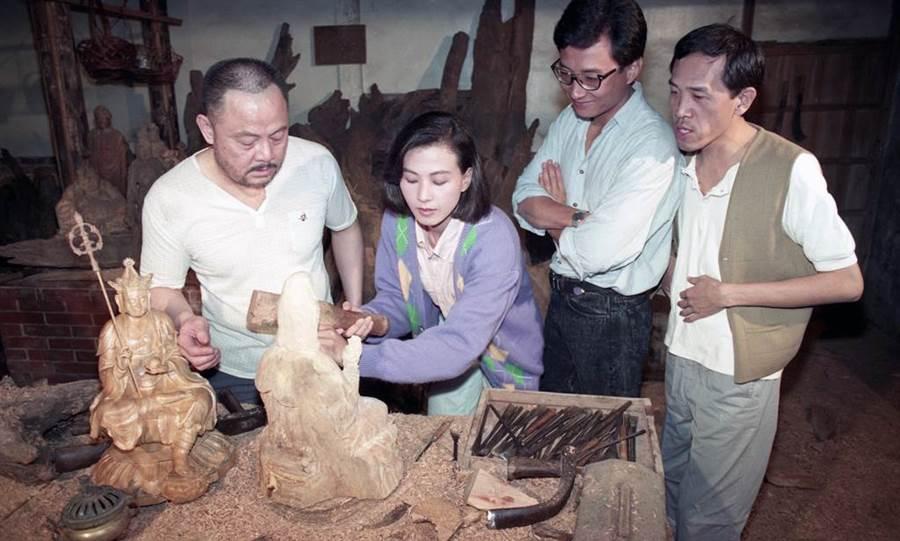 1991年《木觀音》,(右起)演員小戽斗、艾偉、涂善妮。(羅繼志攝)