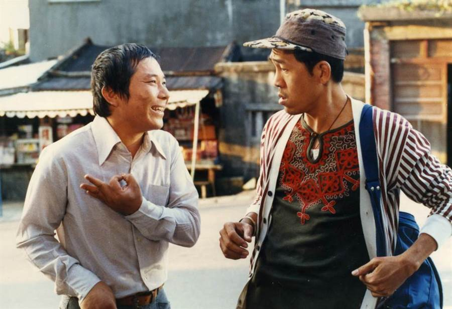 1985年電影《八番坑口的新娘》許不了(左)、小戽斗。(本報系資料照)