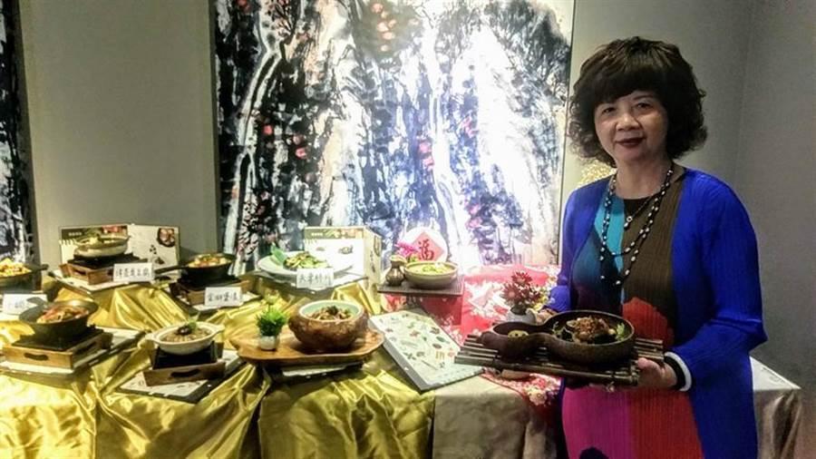 「寬心園」董事長黃瓊瑩表示,隨著吃素祈福發酵,寬心園業績明顯成長兩成以上。圖/曾麗芳