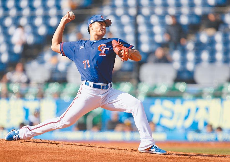 旅美投手江少慶將參加老虎隊春訓,被看好有機會擠進先發輪值。(中央社資料照)