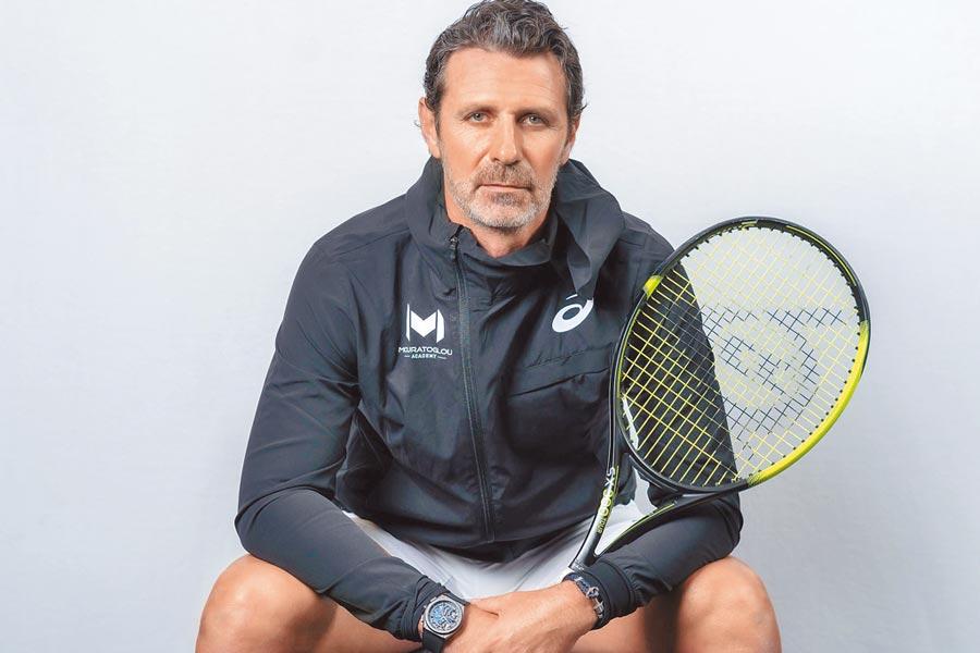 真力時新任品牌代言人派翠克莫拉托魯(Patrick Mouratoglou)是小威廉絲的恩師兼教練,在網壇地位崇高。(ZENITH提供)