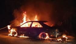 台14甲線合歡山路段驚傳火燒車 6旬夫婦燒成焦屍