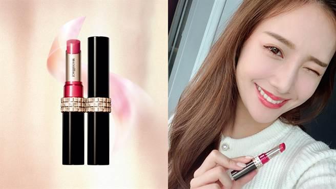心機星魅誘光唇膏可以打造水潤透明感的唇妝。(圖/品牌提供)