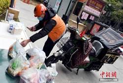 北京日外賣40萬單 2萬外送員「不見面」送餐