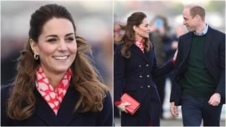 凱特出訪超有誠意!與威廉大玩「國旗配色」 網讚:太有心了
