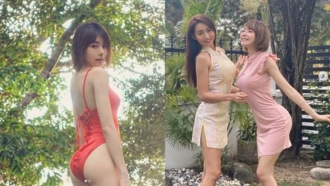 林明禎和姐姐林詩枝都擁有好身材。(圖/IG@ minchen333)