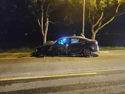全家出遊開車撞路樹 6歲女童內出血重傷
