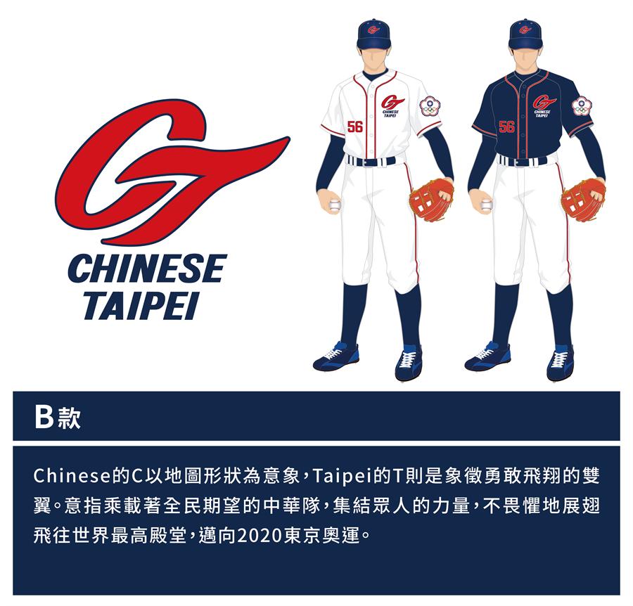 中華隊新LOGO的B款。(中職提供/鄧心瑜傳真)