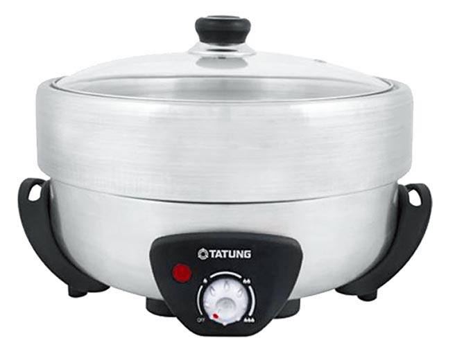 樂天市場的TATUNG大同5L不鏽鋼電火鍋,原價1690元,特價1605元。(樂天市場提供)
