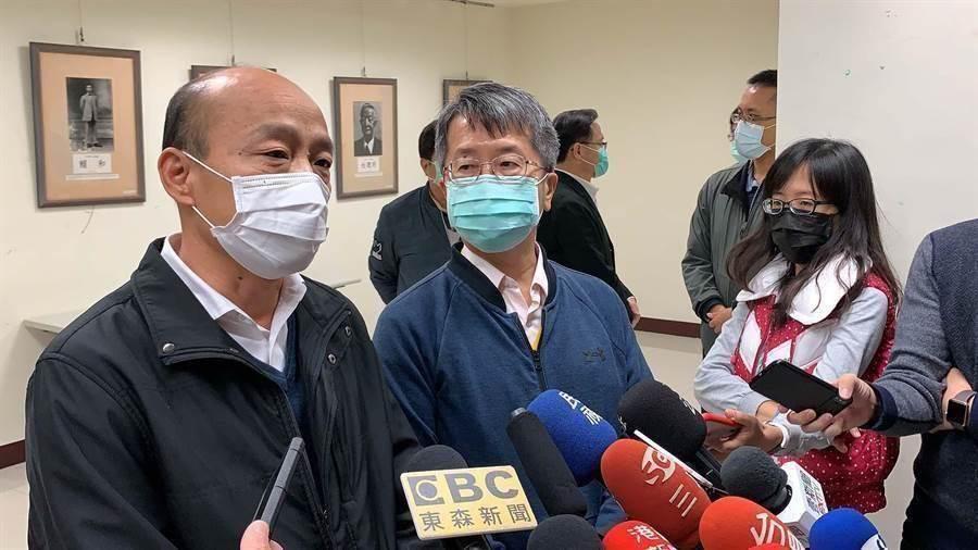 高雄市長韓國瑜(左1)。(本報資料照/柯宗緯攝)